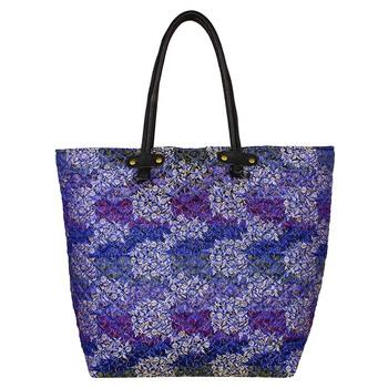 Duvet Blue Jacquard Tote Bag