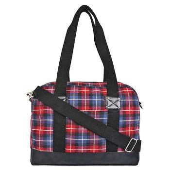 Streak Blue & Red Cotton Shoulder Bag