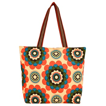 Florid Yellow Canvas Tote Bag