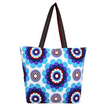 Florid Blue Canvas Tote Bag