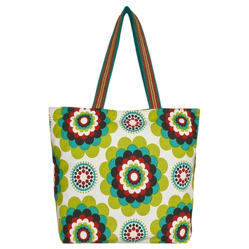 Florid Green Canvas Tote Bag