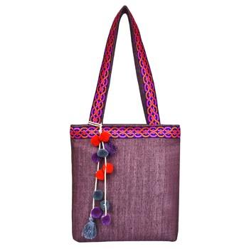 Peppy Pink Viscose Tote Bag