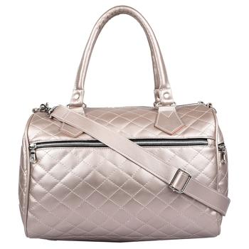 Duvet Metallic Gold PU Handbag