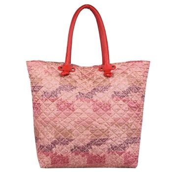 Duvet Pink Jacquard Tote Bag