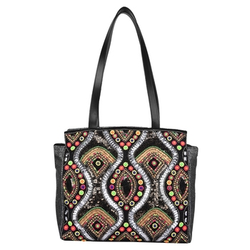 Gild Multicolor Jacquard Shoulder Bag