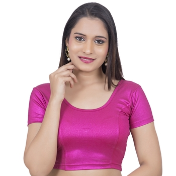 Rani Short Sleeves Lycra Princess Cut Stretchable blouse