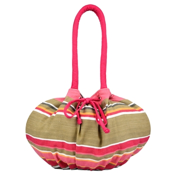 Streak Pink Multicolor Canvas Shoulder Bag