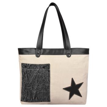 Starry Off-white Canvas Shoulder Bag