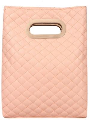 Duvet Dusty Pink PU Hand-held bag