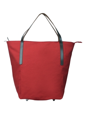carryall red canvas tote bag