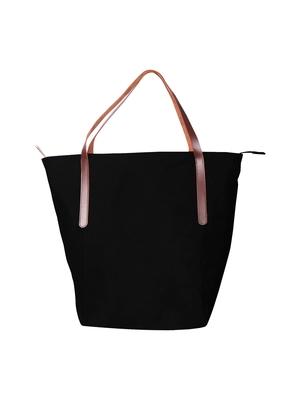 carryall black canvas tote bag