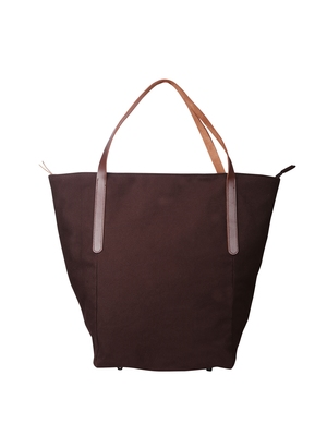 carryall brown canvas tote bag