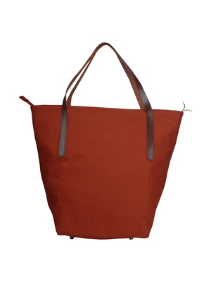 carryall rust canvas tote bag