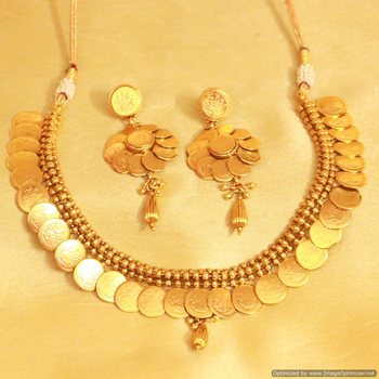 Gorgeous Temple Jewellery Coin Necklace