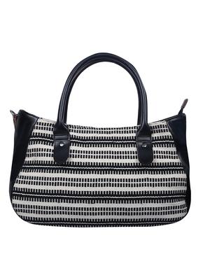 Monochrome Jacquard Black and White Handbag