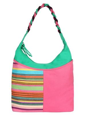 Caliber Canvas cotton Pink Shoulder Bag