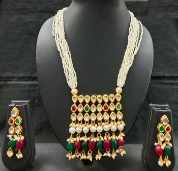 Multicolor Designer Kundan Necklace Sets