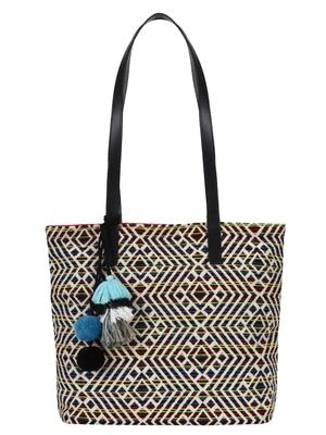 Nava Multicoloured Jacquard Tote Bag