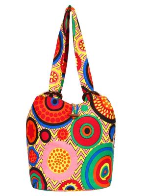Orb Pink and multicoloured Canvas Shoulder bag