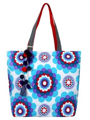 Florid Women's Canvas Blue Tote bag