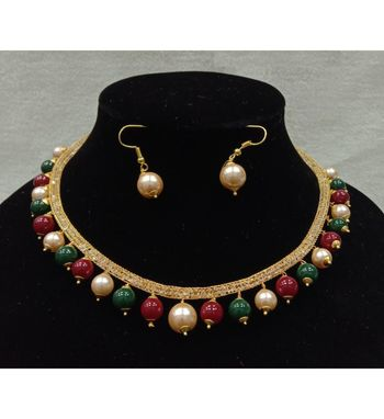 Multicolor pearl necklace  sets
