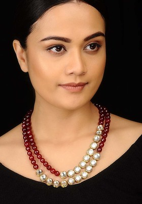 Kundan and Red Stones Necklace