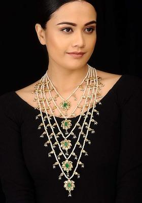 Kundan and Pearls Panchlada Rani Haar Necklace