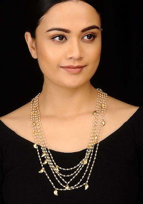 Pearls and Peepal Patti Necklace Set
