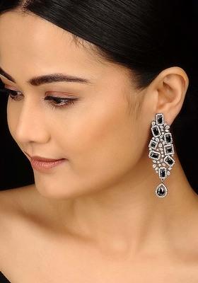 Zirconia Silver Dangler Earrings