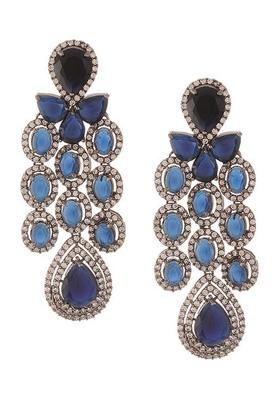 Blue Zirconia Victorian Earrings
