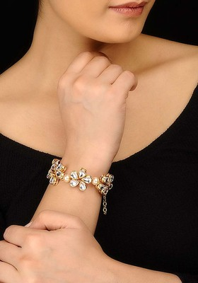Kundan Floral Bracelet