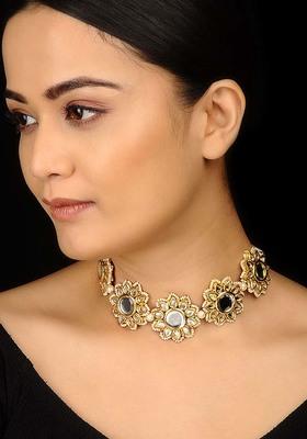 Kundan Floral Choker Necklace