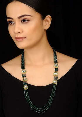 Kundan And Green Stones Necklace