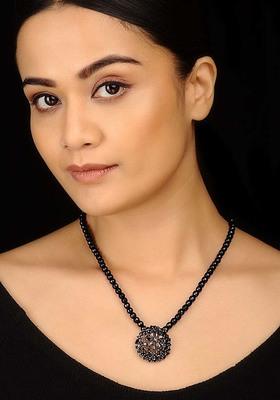 Black Onyx and Zirconia Pendant necklace