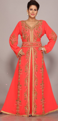 Dubai Kaftan Women Dress Long Gown Frasha Morocco Wear