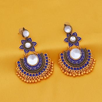 Blue na earrings
