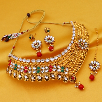 Multicolor stone necklace-sets