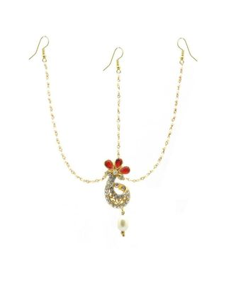 Gold Plated Maang Tikka Matha Patti For Women/Girls