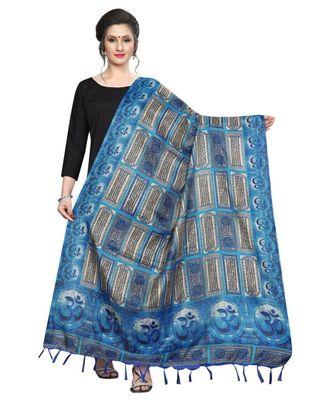 blue Designer printed Duppatta