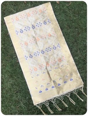Chiku banarasi silk woven Dupatta