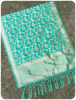 Green Women's Art silk Dupatta