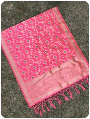 Pink Women's Art silk Dupatta