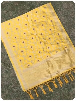 Yellow Women's Art silk Dupatta