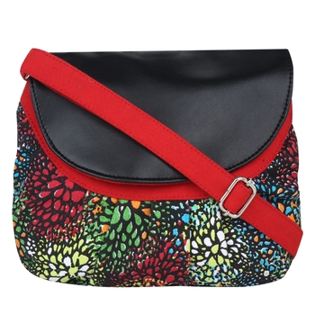 Minikins Multicolor Canvas Sling Bag