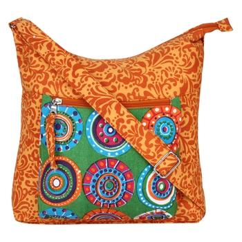 Hybrid Orange Canvas Sling Bag