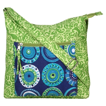 Hybrid Green Canvas Sling Bag
