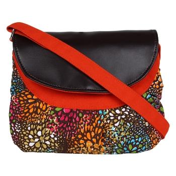 Minikins Orange Canvas Sling Bag