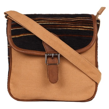 Dash Beige Canvas Sling Bag