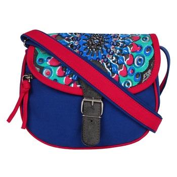 Typic Blue Canvas Sling Bag
