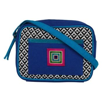 Minikins Blue Jacquard Sling Bag